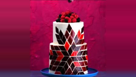 石榴籽和鲜果皮蛋糕,看着好精致!
