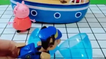猪妈妈要带佩奇乔治去玩猪妈妈找猪爸爸来开船猪爸爸藏哪里去了