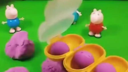 猪妈妈要带佩奇乔治到游乐园不过谁捏的面团圆才能去的啊