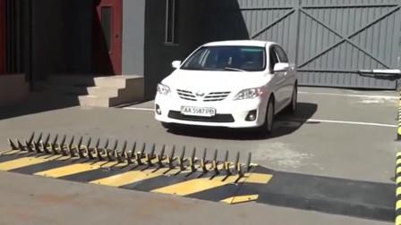 牛人发明:国外研发的减速带,看谁还敢开快车!