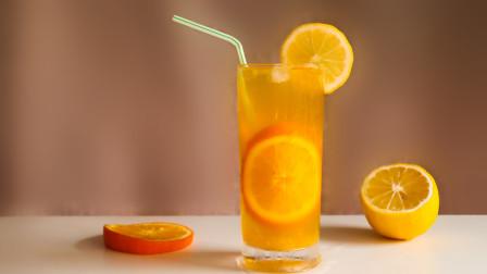 自制橙汁水果茶,炎炎夏日就靠它来清凉解渴了