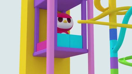 迷你特工队:高空抛球学颜色,赛米学习蓝色和紫红色