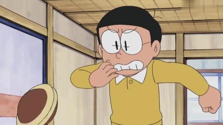 哆啦A梦:大雄想品尝铜锣烧,怎料铜锣烧自己跳出来,直接跳到哆啦a梦嘴里