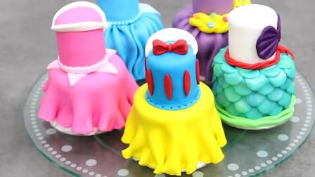 国外小姐姐用蛋糕制作裙子的模样,看着还挺像的