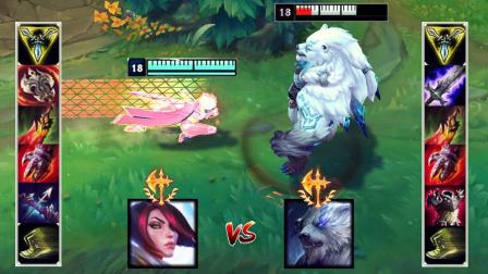 LOL:神装狗熊VS神装剑姬,哪个英雄更强?