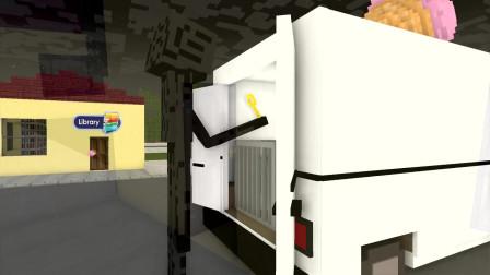 我的世界动画-怪物学院 vs 冰淇淋人-Bitz Minecraft Animation