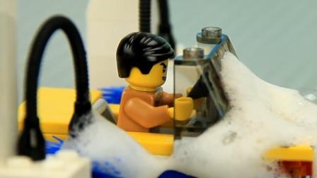 倒霉的司机先生总被弄脏汽车只好自己清洗.mp4