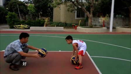 篮球小天才参加幼儿园全明星比赛,爸爸为他训练,练得好辛苦