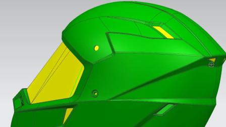 头盔UG模具设计