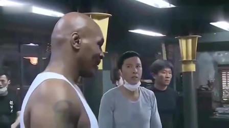甄子丹和泰森对打叶问真实拍摄现场是这样的甄子丹被打出血