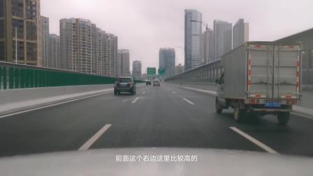 实拍江西赣州高架桥城市街景,有大城市的样子,你感觉是几线城市