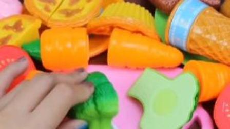 水果切切乐玩具,牛排,冰激凌,蛋挞玩具