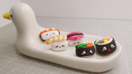 乐桃桃创意手工美味寿司系列,鲜虾寿司和蟹子寿司你喜欢哪个?