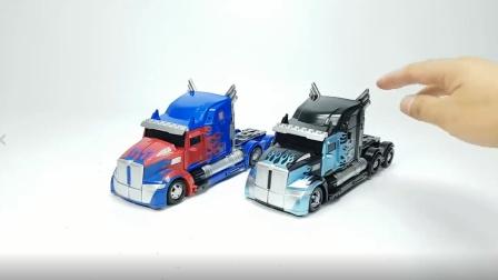 变形金刚电影 重涂过大   Night Nemesis 最佳擎天柱 Prime Truck车载机器人Toys_Trim