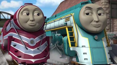 托马斯和他的朋友们铺设铁路结果?小火车