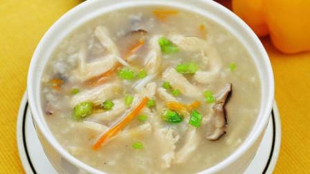 香菇鸡肉粥,做法简单,营养又美味!