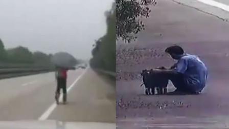 广西玉林一小伙踩轮滑上高速滑行40公里 半路被拦说要去南宁打工