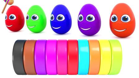 亲子早教动画打开盒子找到不同形状的饼干学颜色