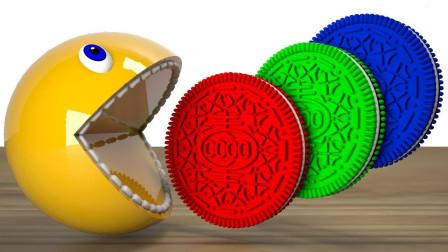 大黄豆吃彩色足球身体染色益智动画学颜色