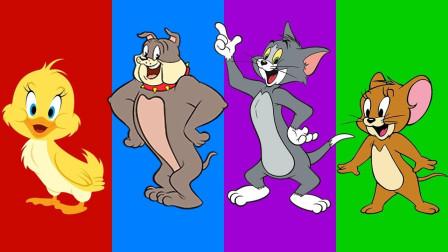 亲子早教动画汤姆猫和杰克寻找自己的身体学颜色