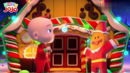 超级宝贝:宝宝在建姜饼屋,宝宝加油呀,你快要建成了呀