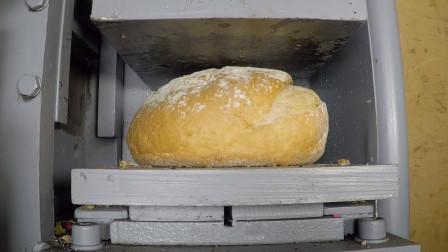 面包放到液压机下,能做出压缩饼干吗?老外:味道一言难尽