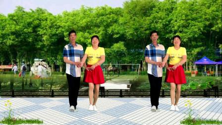 简单好看的14步双人舞《十送红军》广场舞