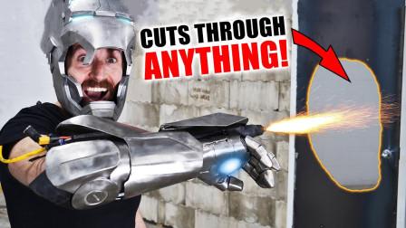 老外耗时5天,自制钢铁侠等离子手套,动一动2万℃火焰喷射!
