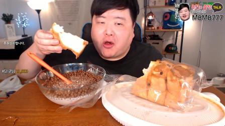 一人独享栗子面包和可可球,用牛奶泡可可球味道实在太赞了!