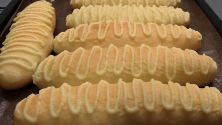 毛毛虫小面包,步骤简单,学会自己在家做,蓬松暄软,香甜又解馋