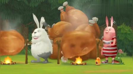 兔:树上意外发现鸡窝,红兔把鸡都给烤了,这下足够美餐一顿