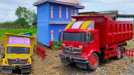 展示各种消防车玩具