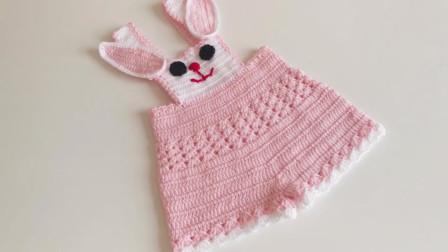毛线编织教程,儿童兔子裙的钩织方法!