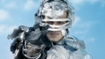 大反派注射超级血清后,变身成钢铁人,轻轻一抬手就捏碎一辆汽车