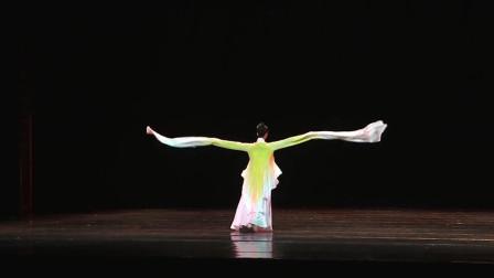 古典舞《奈若虞兮》,舞者基本功扎实,才有了水袖的流畅有力!