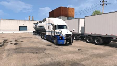 美国卡车模拟驾驶全新马克ROML涂装从犹他州拉动物饲料到怀俄明州