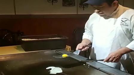 香港酒店大厨另类煎鸡蛋,这抛蛋技术能和乒乓球冠军媲美了!