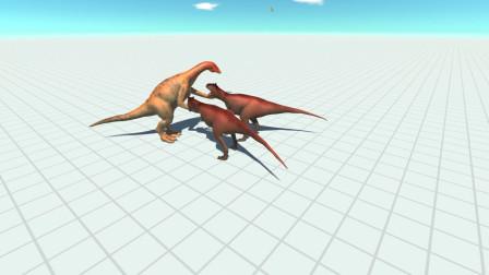 战争模拟器:2头食肉牛龙vs不同种类的恐龙