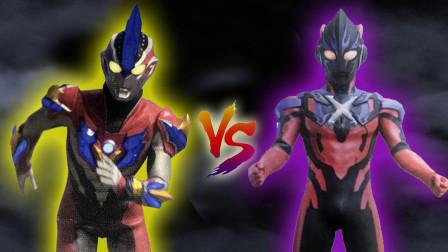 银河维克特利奥特曼VS黑暗艾克斯!奥特曼格斗进化0修改皮肤!
