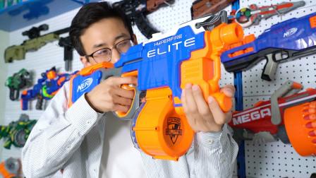 试玩热火突击步枪型软弹枪,外形酷似短剑,25发子弹瞬间秒射