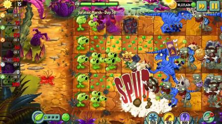 植物大战僵尸2国际版一阶植物侏罗纪沼泽38:金卡用的就是这么爽