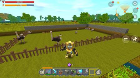 迷你世界:暗墨的生存 06 捕捉会咬人的小鸡还有小牛