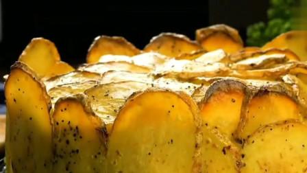 烤完的土豆放入蛋糕模具,挑战全土豆蛋糕
