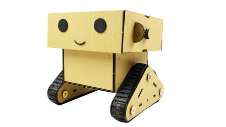 纸板做的机器人!2岁小弟弟玩这么溜,旁边的姐姐不淡定