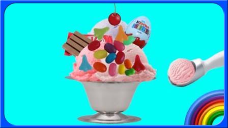 怪怪玩具屋玩具开箱史莱姆多层培乐多黏土冰淇淋