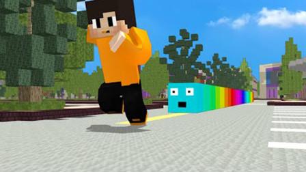 我的世界动画短片:当Slither.io乱入我的世界中会怎样