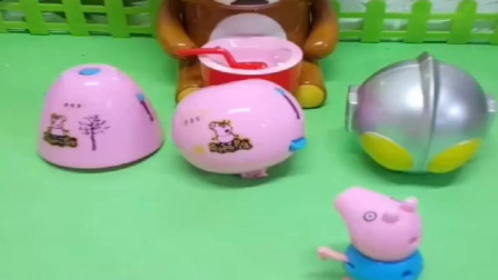 小猪佩奇玩具:每个人都不想和乔治玩,乔治拿出个吹泡泡机,都想跟他玩