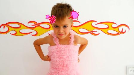 机器人妈妈照顾萌娃小可爱们可真是闹了不少的笑话萌娃让我穿裙子我可不是女孩子