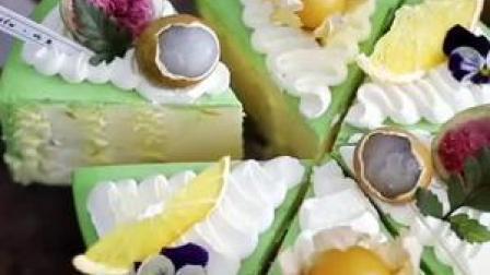 香橙开心果 切块蛋糕装饰分享~充满了春天的气息,也充满了活力和美好#蛋糕装饰 #网红蛋糕