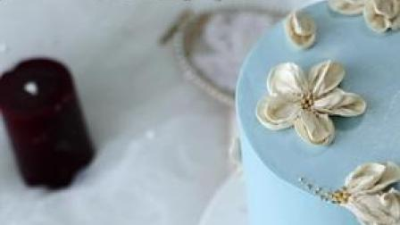 唯美系简约裱花蛋糕,制作分享。简单又不失美感 #裱花蛋糕  #创意蛋糕